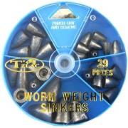 Груз в наборе Takamiya Worm Weight Sinkers TG-520 (29шт)