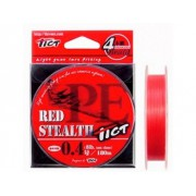 Шнур TICT RED STEALTH 180 м 0,104 мм
