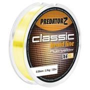Шнур для блеснения Predator-Z Classic Braid Line жёлтый