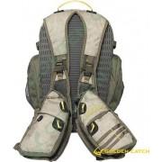 Жилет GC спиннингиста с рюкзаком бежевый